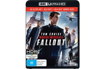 Mission Impossible Fallout 4K Ultra HD Blu-ray UHD Region B