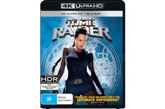Lara Croft Tomb Raider 4K Ultra HD Blu-ray Digital Download UHD Region B