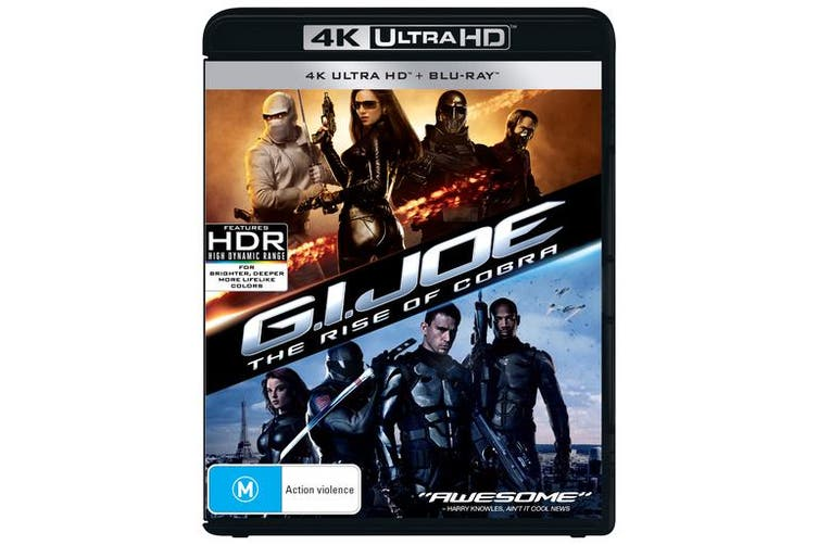 GI Joe The Rise of Cobra 4K Ultra HD Blu-ray UHD Region B