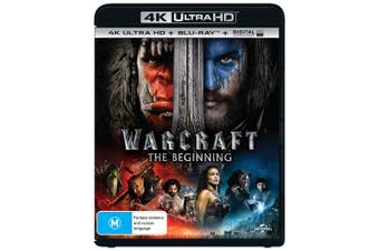 Warcraft The Beginning 4K Ultra HD Blu-ray Digital UV Copy Blu-ray Region B