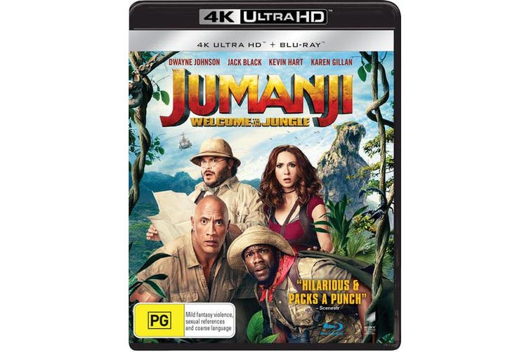 Jumanji Welcome to the Jungle 4K Ultra HD Blu-ray UHD Region B