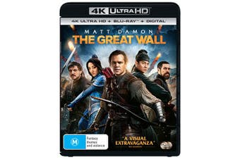 The Great Wall 4K Ultra HD Blu-ray Digital Download UHD Region B