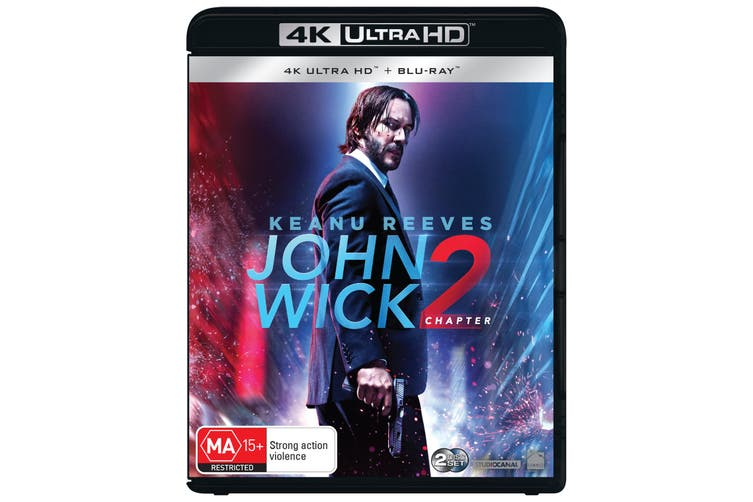 John Wick Chapter 2 4K Ultra HD Blu-ray Digital Download UHD Region B