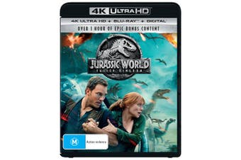 Jurassic World Fallen Kingdom 4K Ultra HD Blu-ray Digital Download UHD Region B