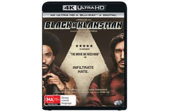 BlackkKlansman 4K Ultra HD Blu-ray Digital Download UHD Region B
