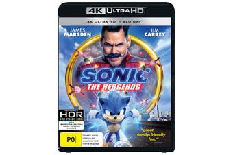 Sonic the Hedgehog 4K Ultra HD Blu-ray UHD Region B