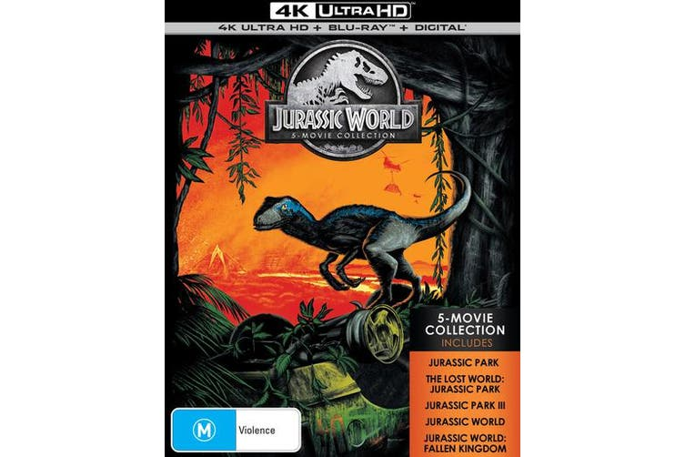 Jurassic World 5 Movie Collection 4K Ultra HD Blu-ray Digital Download Box Set Blu-ray