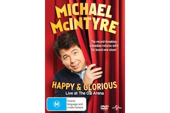 Michael McIntyre Happy and Glorious DVD Region 4