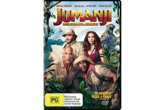 Jumanji Welcome to the Jungle DVD Region 4