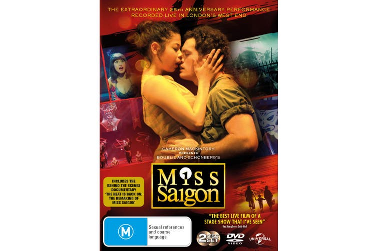 Miss Saigon 25th Anniversary Performance DVD Region 4