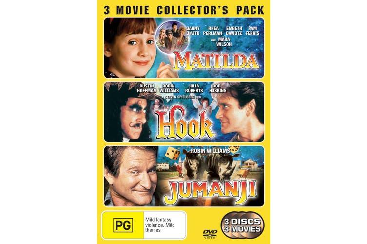 Hook / Matilda / Jumanji DVD Region 4