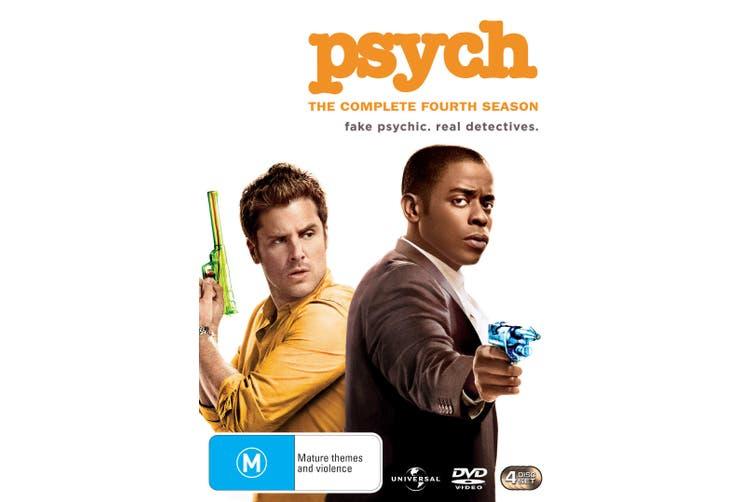 Psych The Complete Fourth Season 4 DVD Region 4