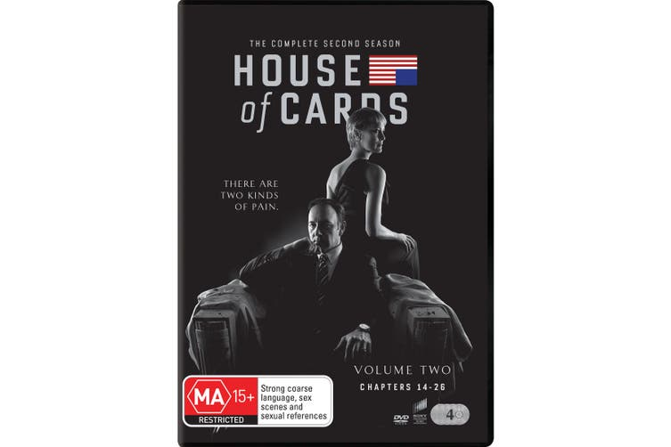 House of Cards The Complete Second Season 2 Box Set DVD Region 4