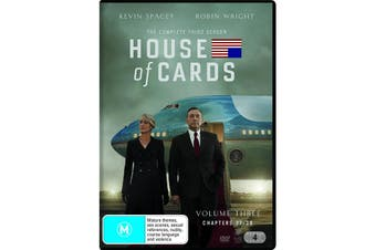 House of Cards The Complete Third Season 3 DVD Region 4
