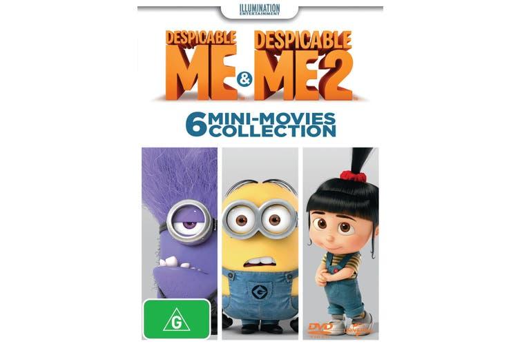 Despicable Me / Despicable Me 2 6 Mini movies Collection DVD Region 4