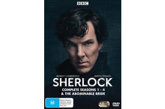 Sherlock Complete Series 1-4 & the Abominable Bride Box Set DVD Region 4