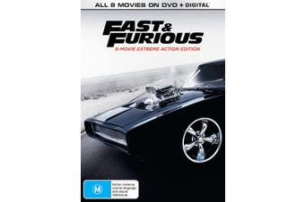 Fast & Furious 8 movie Collection DVD Region 4