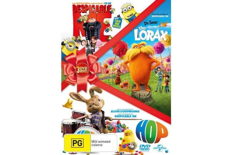Hop / Despicable Me / The Lorax DVD Region 4