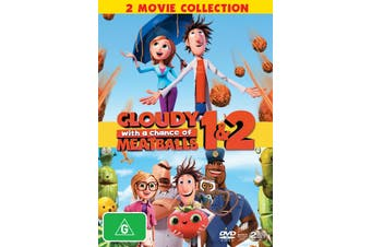Cloudy With a Chance of Meatballs 1 and 2 DVD Region 4
