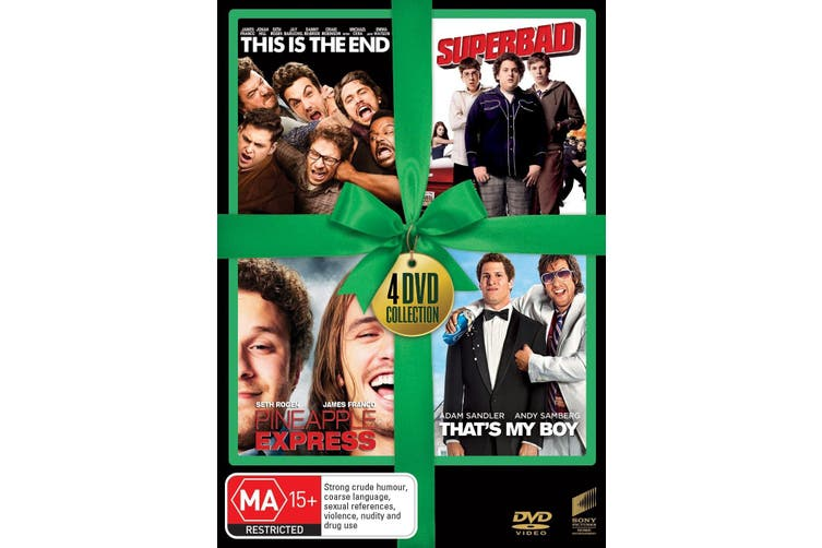 This Is the End / Superbad / Pineapple Express / Thats My Boy DVD Region 4