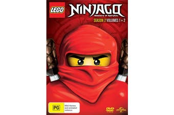 LEGO Ninjago Season 2 Volume 1 / Volume 2 Part 1 DVD Region 4