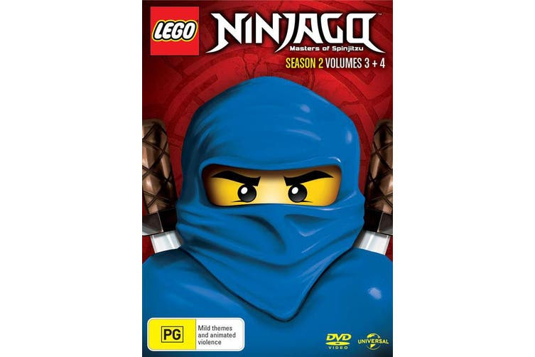 LEGO Ninjago Season 2 Volume 3 Part 2 / Volume 4 DVD Region 4