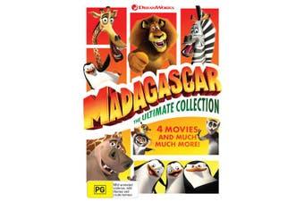 Madagascar and Penguins of Madagascar 4 Movie Collection Box Set DVD Region 4
