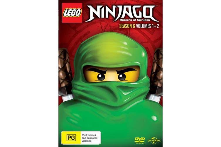 LEGO Ninjago Season 6 Volume 1 & 2 DVD Region 4