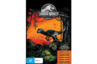 Jurassic World 5 Movie Collection Box Set DVD Region 4