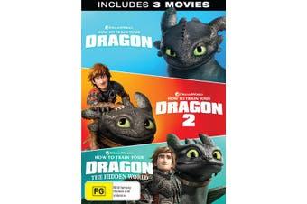 How to Train Your Dragon 1-3 Box Set DVD Region 4