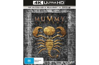 The Mummy Returns 4K Ultra HD Blu-ray Digital UV Copy Blu-ray Region B