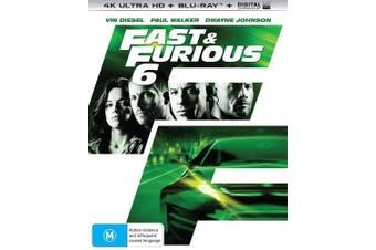 Fast & Furious 6 4K Ultra HD Blu-ray Digital UV Copy Blu-ray Region B