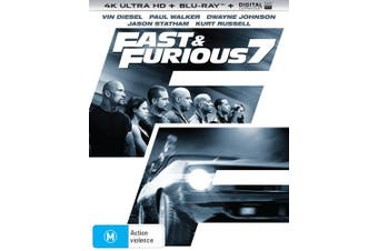 Fast & Furious 7 4K Ultra HD Blu-ray Digital UV Copy Blu-ray Region B