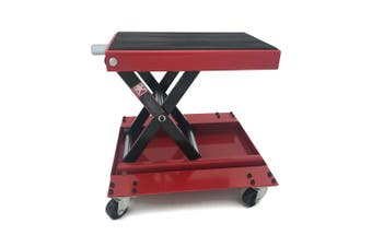 500kg Motorcycle Jack Scissors Lift - with Trolley