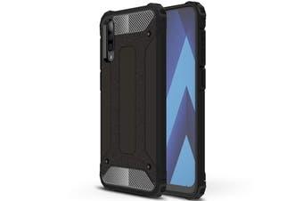 Case Flexible Soft Anti Slip TPU Cover For Samsung Galaxy A70-Black