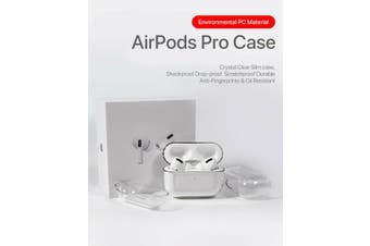 Case Cover Crystal Clear Hard Transparent Holder AirPods Case For AirPods with Hook