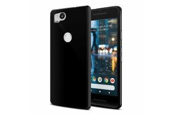 Maxshield Google Pixel 2 Case Cover, Flex Gel Crystal Case-Black