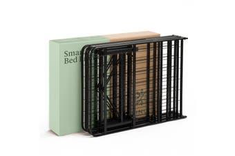 Metal Foldable SINGLE Bed Frame Storage Folding Mattress Base Guest Beds