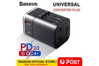 Baseus 18W USB + Type C Universal Travel Adapter Power Plug charger Converter