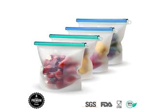 4 Reusable Sandwich bags I Silicone Food Storage Bags I Reusable Snack Bags STOVEN