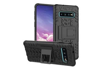 Shockproof Heavy Duty Rugged Double Layer Case Cover For Samsung Galaxy S6 edge-Black