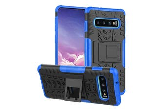 Shockproof Heavy Duty Rugged Double Layer Case Cover For Samsung Galaxy S6 edge-Blue