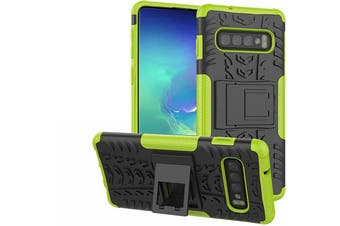 Shockproof Heavy Duty Rugged Double Layer Case Cover For Samsung Galaxy S6 edge-Green