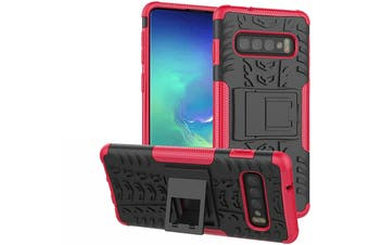 Shockproof Heavy Duty Rugged Double Layer Case Cover For Samsung Galaxy S6 edge-Pink