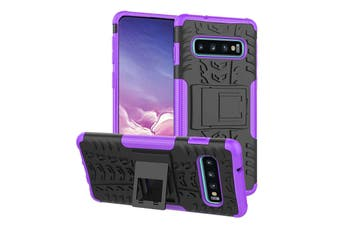 Shockproof Heavy Duty Rugged Double Layer Case Cover For Samsung Galaxy S6 edge-Purple
