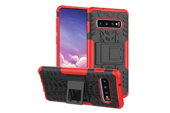Shockproof Heavy Duty Rugged Double Layer Case Cover For Samsung Galaxy S6 edge-Red