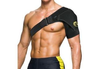 Adjustable Shoulder Brace Support Strap Compression Bandage Sports Arthritis CFR-Black
