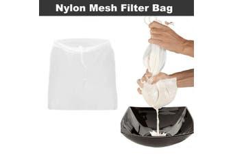 Nut Tea Milk Fruit Juice Nylon Mesh Filter Bag Fish Tank Reusable Net Strainer Size M