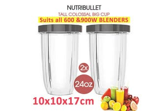 2X 24oz NUTRIBULLET TALL COLOSSAL BIG CUP SUITS All 600 900W Nutri Bullet Models