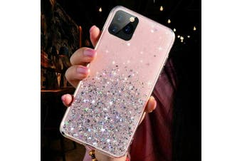For iPhone 8 PLUS Bling Glitter Shockproof Phone Case Cover-Pink